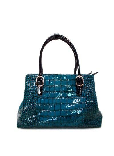 Kelly Brown Handbag Sybilla Blue 164 95