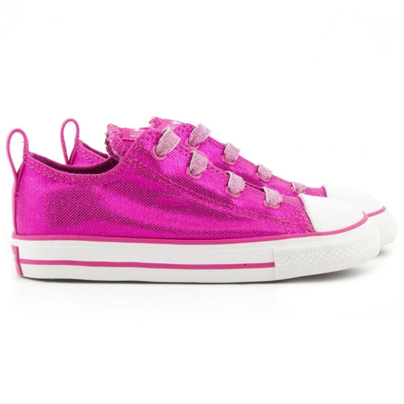 best sneakers cc852 221e3 Converse Metallic pink Chuck Taylor trainers