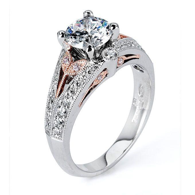 Rose And White Gold Engagement Rings | Drinks Wedding Registry Wedding  Decor Flowers Live Wedding Destination