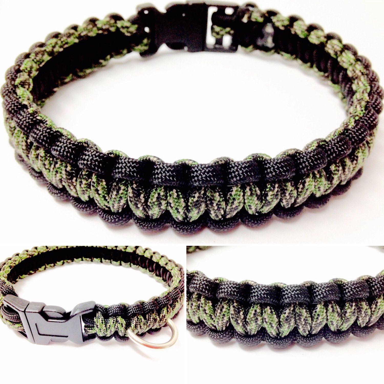 Paracord Dog Collar  Digital Camo Dog Collar  Digital Camo Paracord Dog  Collar  Macrame Dog Collar  K9 Collar  Camo Dog Collar  Collar