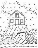 Free Coloring Page House Upon The Rock Bing Images Sunday School Coloring Pages Bible Crafts Bible Coloring Pages