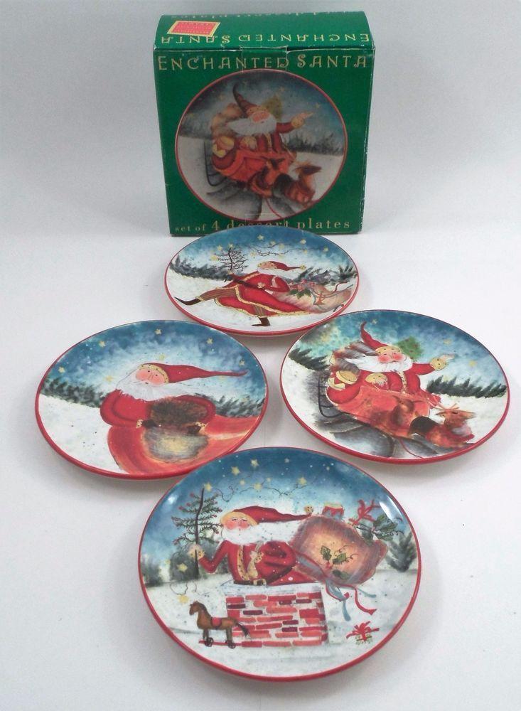 4 MIB Certified International Susan Winget Enchanted Christmas Santa ...