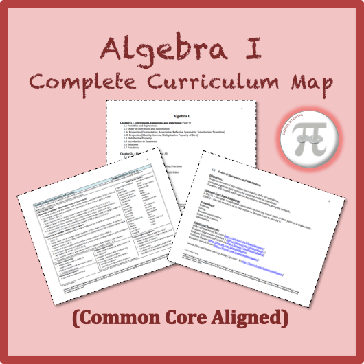 Algebra 1 complete curriculum map common core aligned algebra algebra 1 complete curriculum map common core aligned sciox Images