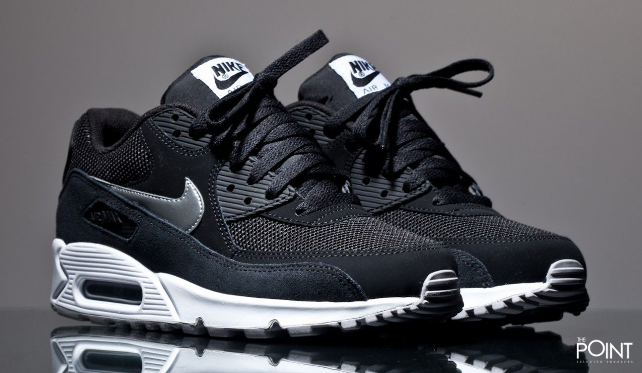 Zapatillas Nike Air Max 90 Essential Negro Blanco | NIKE
