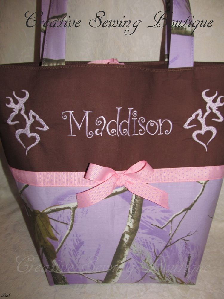 custom handmade realtree lavender purple camo camouflage diaper bag name choice creative. Black Bedroom Furniture Sets. Home Design Ideas