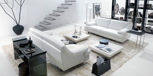 Unusual interior living room accessories white black vase | Living ...
