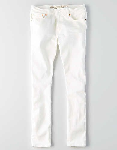 Aeo Extreme Flex Slim Jean White American Eagle Outfitters Clothes Mens Outfitters American Eagle Men Jeans