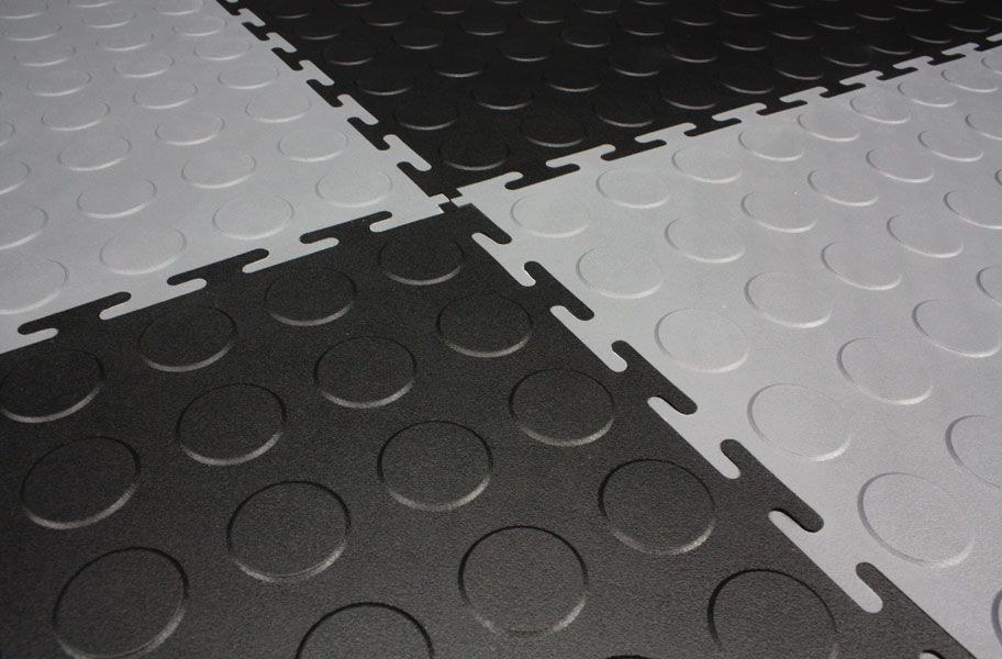 Coin Flex Tiles Garage Floor