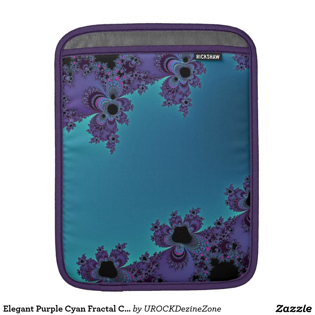 Elegant Purple Cyan Fractal Collection #iPad Sleeve For iPads