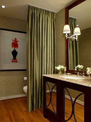 pinjenny carroll on bathroom | home, curtain divider