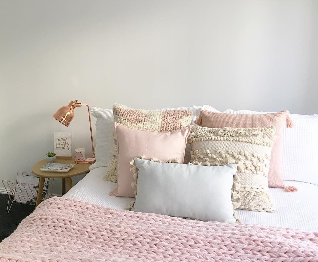 stylingbytiffany on Instagram: boho scandi bedroom blush pink bed ...