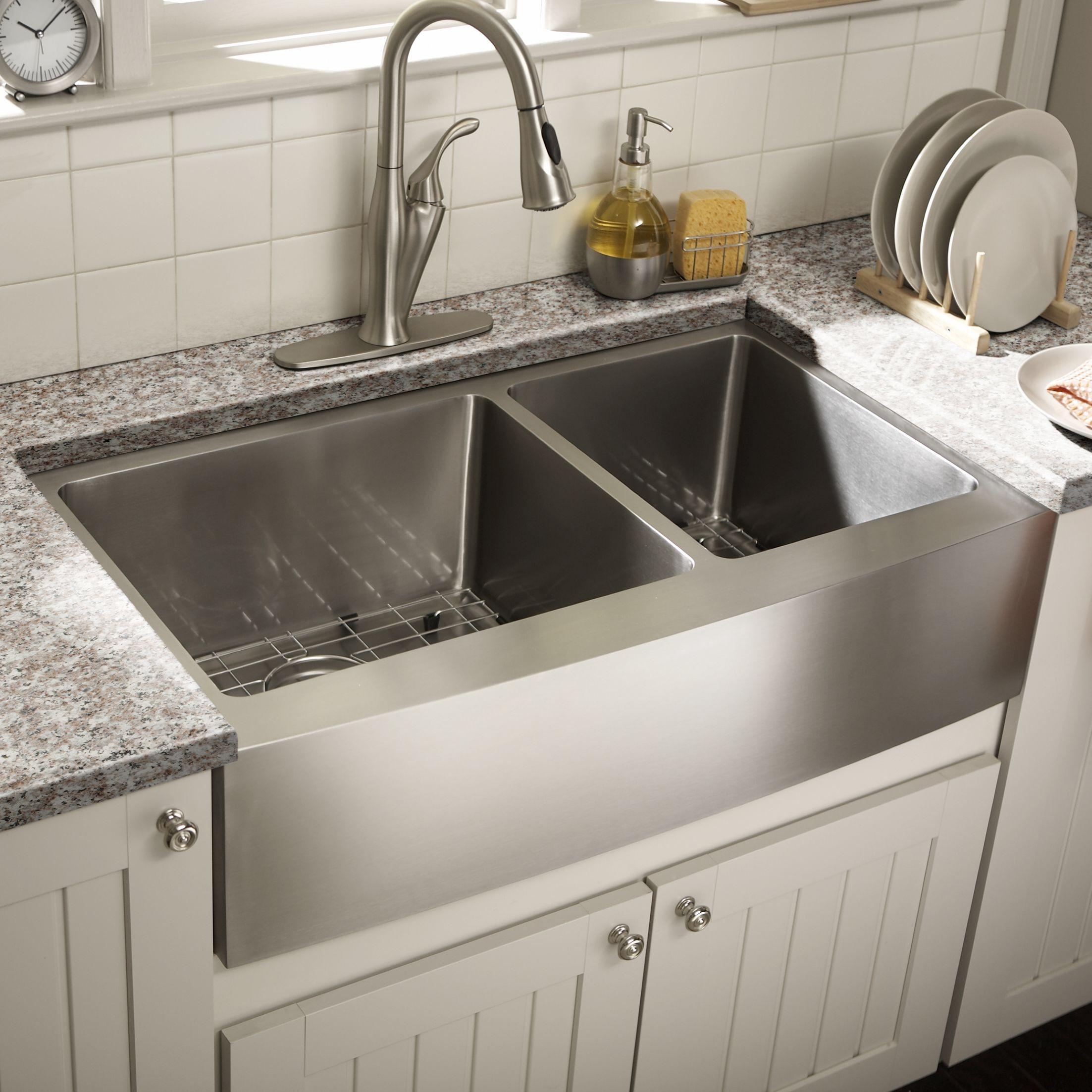 36 Double Bowl Farmhouse Kitchen Sink Farmhouse Sink Kitchen