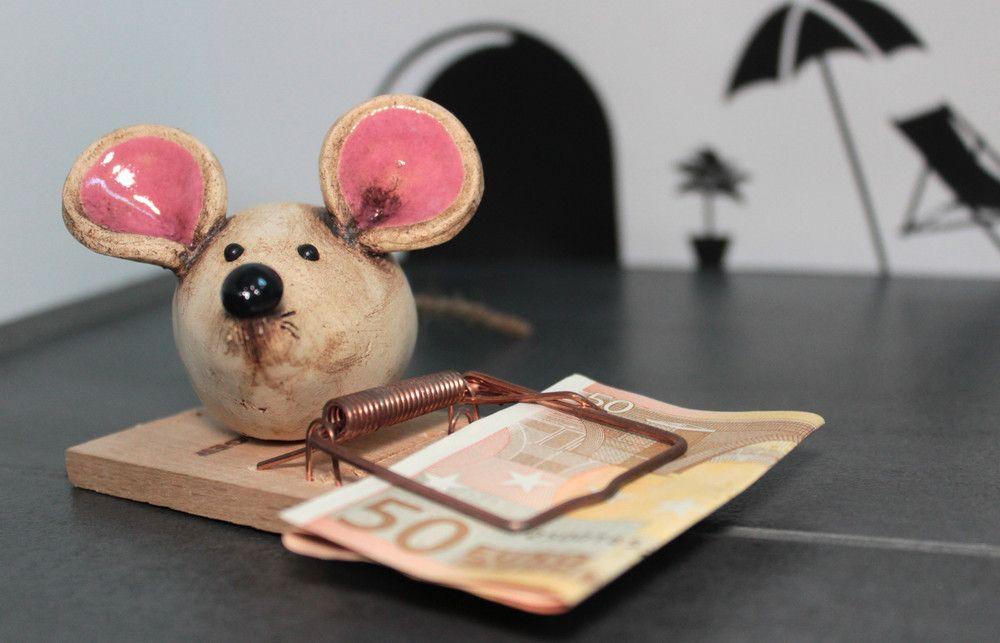 Geldgeschenke Getöpferte Mäuse Falle Geldgeschenk
