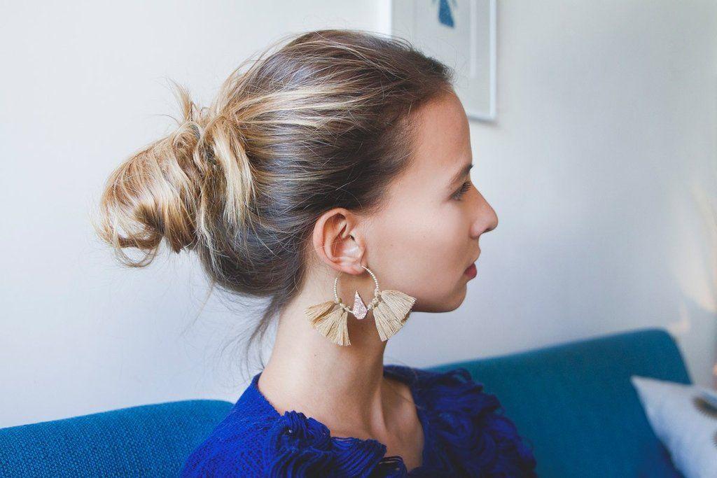 Boucles d'Oreilles Maia Bleu