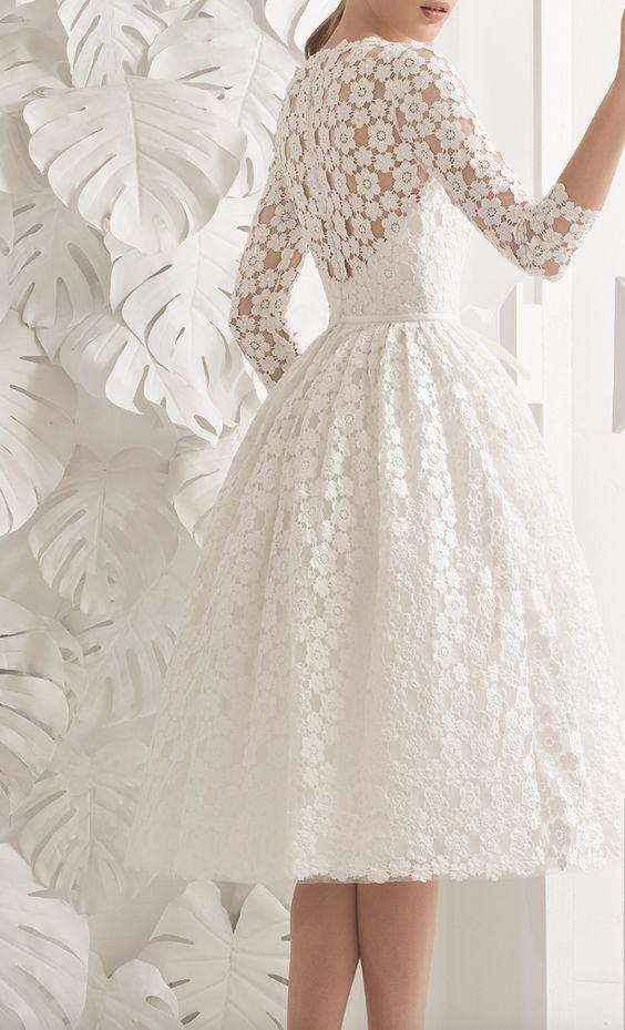 Rosa Clara Wedding Dress Inspiration Tea Length Dresses Tea
