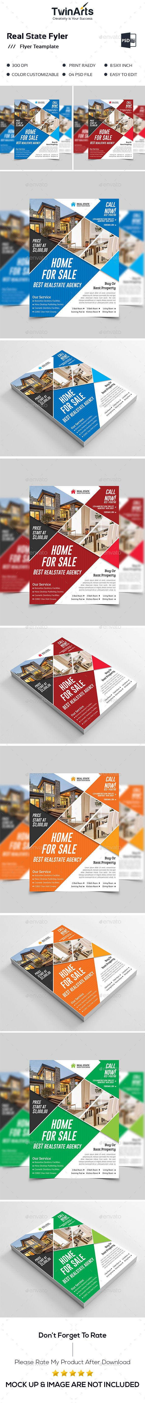 Real State Flyer Flyer Template Template And Flyer Printing - State brochure template