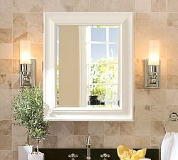 Wall Mounted Medicine Cabinet Mirror bathroom cabinets, vanities & glass bathroom shelves | pottery barn