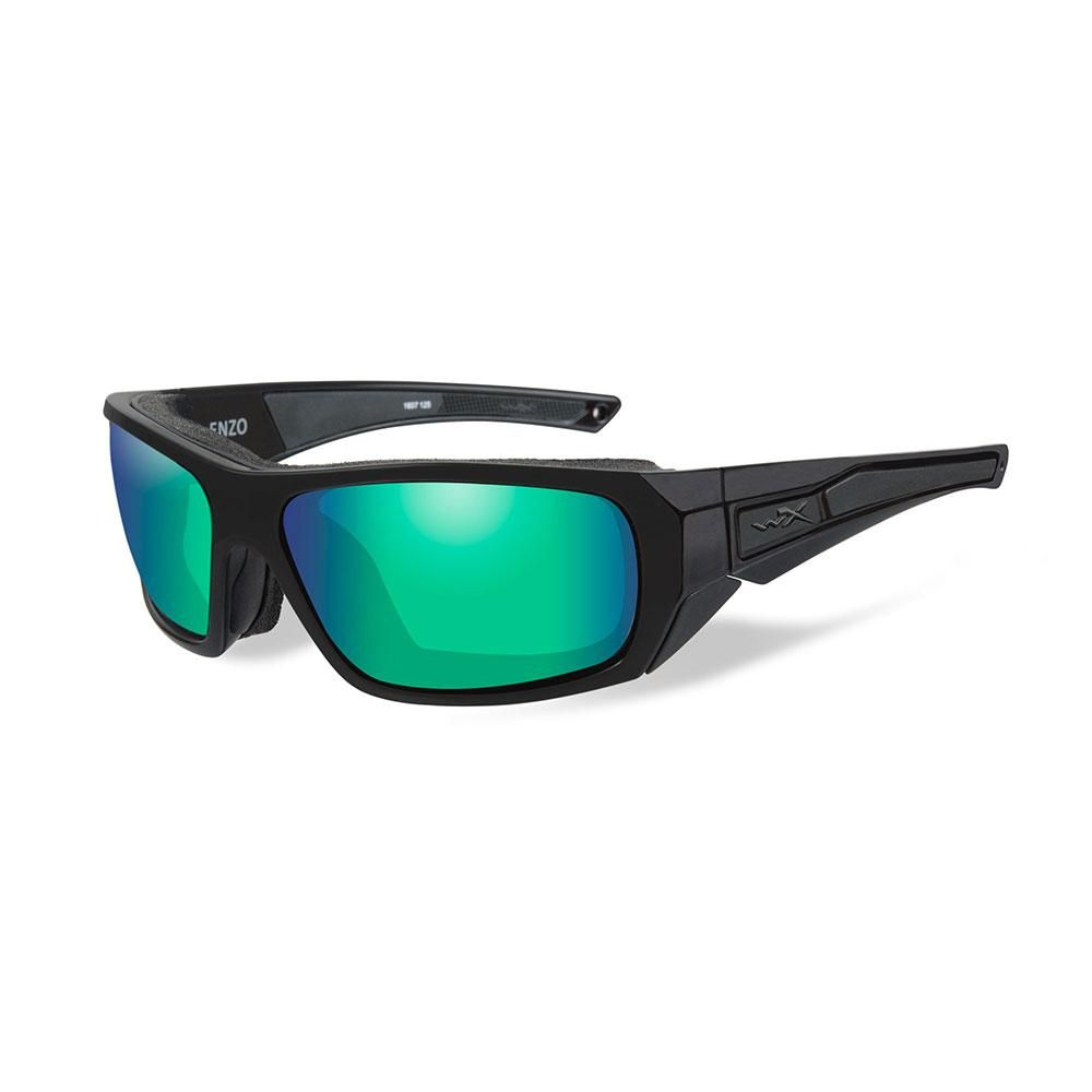 efb60038bfd8 Wiley X Enzo Sunglasses - Polarized Emerald Mirror Lens - Matte Black Frame  [CCENZ07]