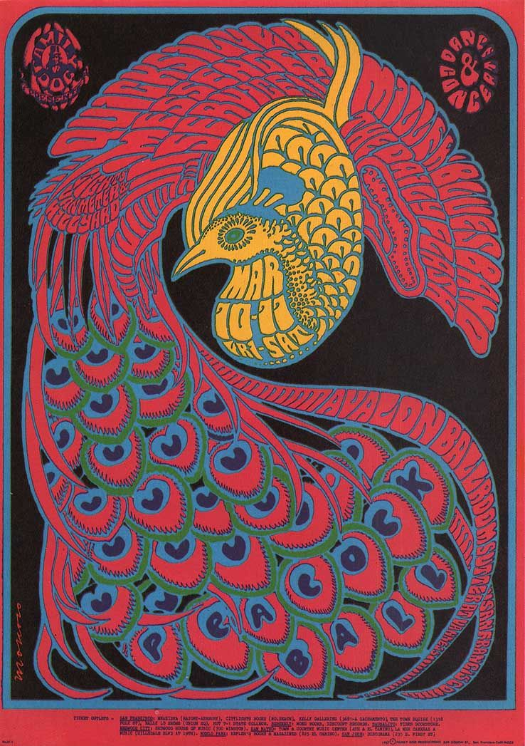 Quick silver Avalon ballroom san francisco  march 1967 ,by Victor Moscoso