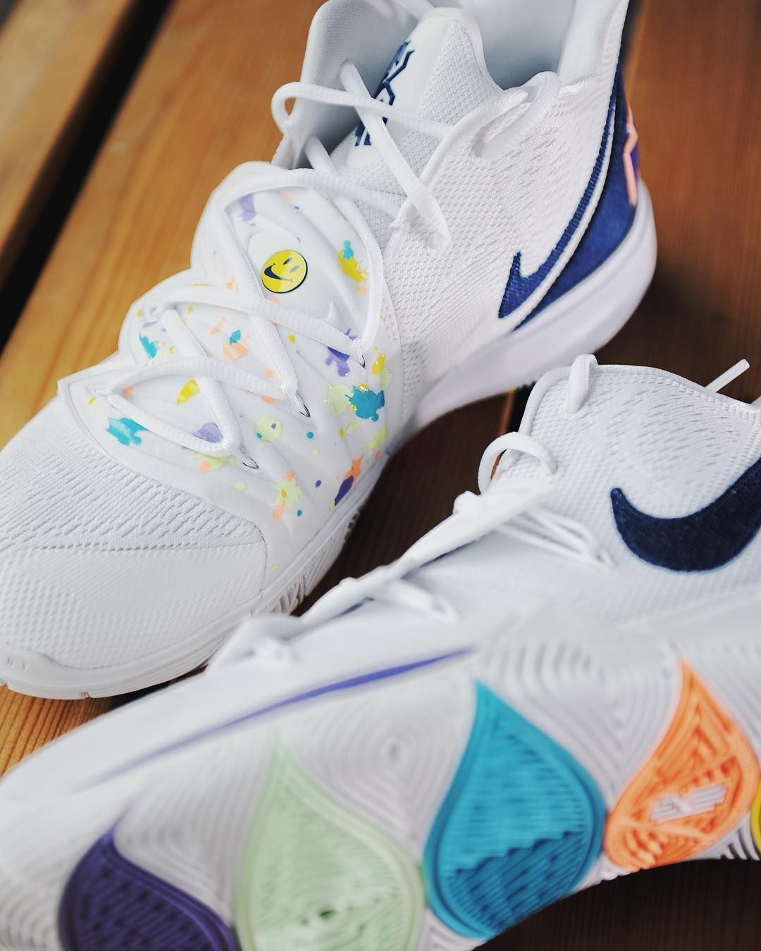 Nike Kyrie 5 Have A Nike Day Release Date Sole Collector Collector Date Day Kyrie In 2020 Womens Basketball Shoes Nike Basketball Shoes Girls Basketball Shoes