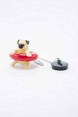 Pug Bath Plug Accessory - Urban Outfitters Pug objetos e