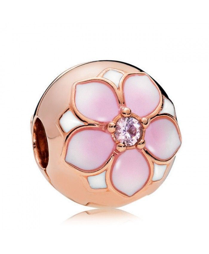 e852b24cc Pandora Rose Magnolia Bloom Clip Cheap Sale | pandora charms sale uk ...
