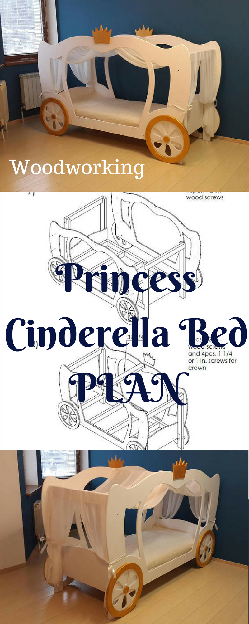Your little princess is going to love this bed. Easy to