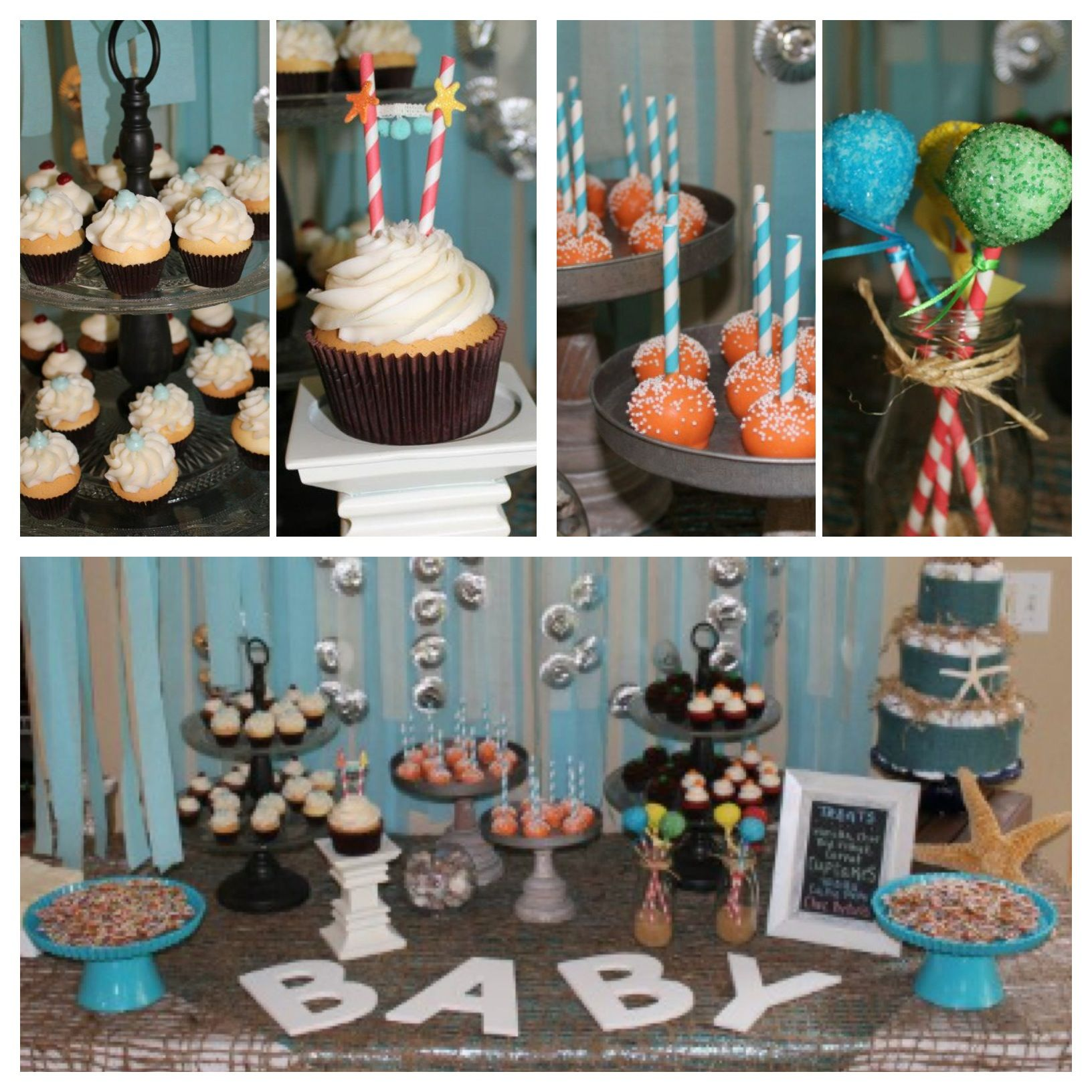 Under The Sea Themed Baby Shower Sea Theme Shower Pinterest