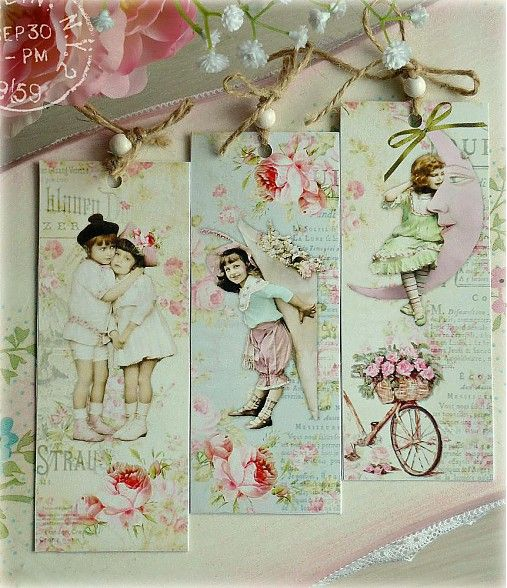 Shabby kids bookmarks