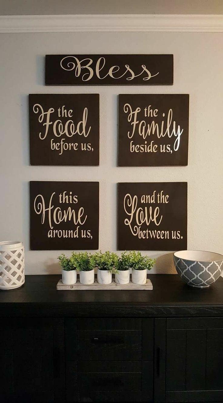 45 Pretty Kitchen Wall Decor Ideas To Stir Up Your Blank Walls Kitchen Wall Design Kitchen Wall Decor Kitchen Wall