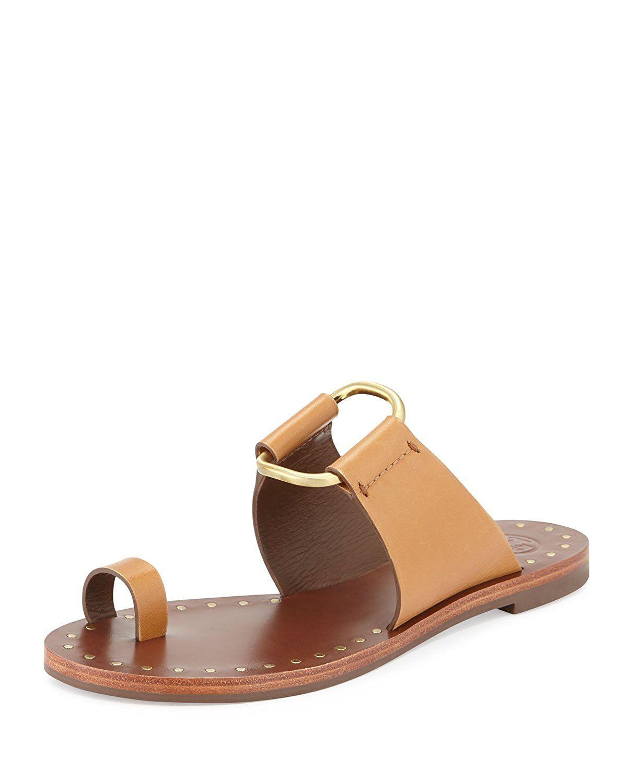 Tory Burch Brannan Studded Sandal Monark Vachetta Tan * For more  information, visit image link