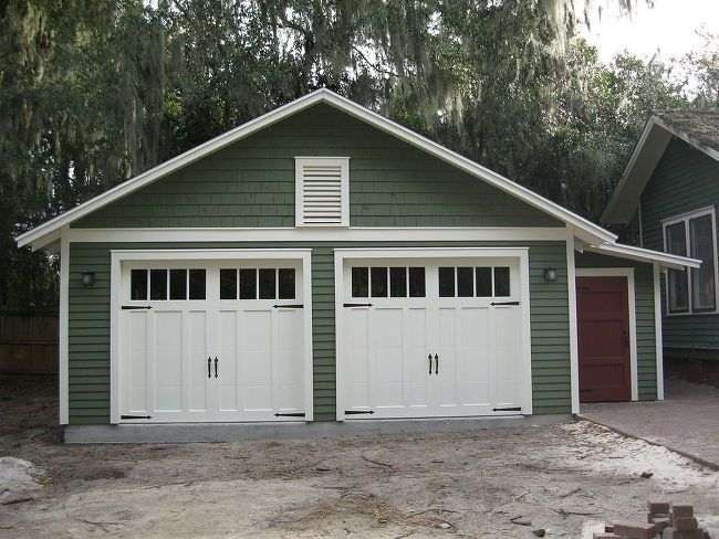 Custom Two Car Garage With Attached Workshop Garage In