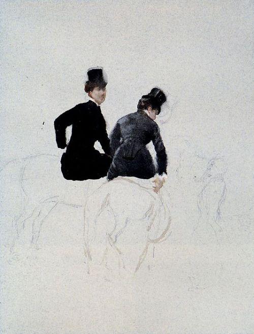 Giuseppe De Nittis (Italian, 1846-1884)Amazzoni
