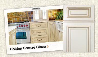 Bronze Glaze Embled Kitchen Cabinets