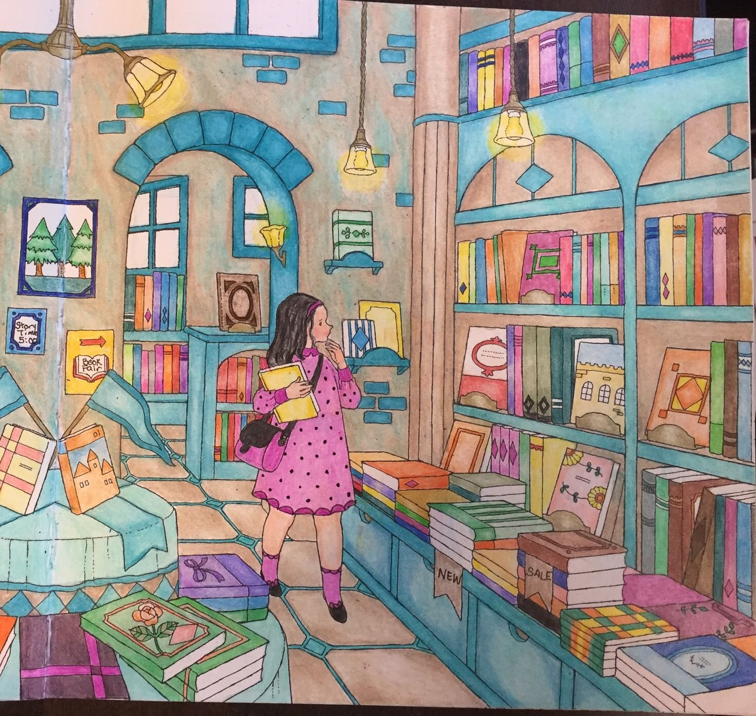 my colorful town by chiaki ida right page of outside of bakery