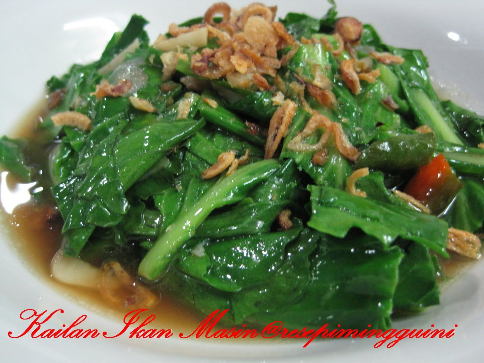 Kailan Ikan Masin Resepi Minggu Ini Resep Masakan Cina Resep Masakan Makan Malam