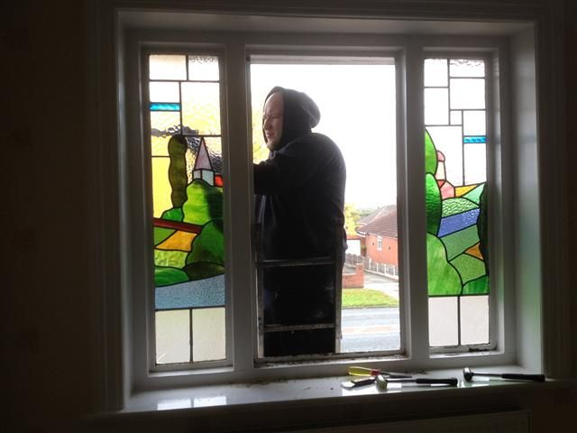 Double Glazed Triple Glazing Of Stained Glass Windows Encapsulation Leaded Lights
