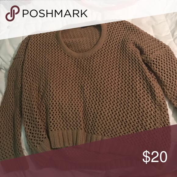 Brown sweater Brown/ tan sweater that's hardly worn MAK Sweaters Crew & Scoop Necks