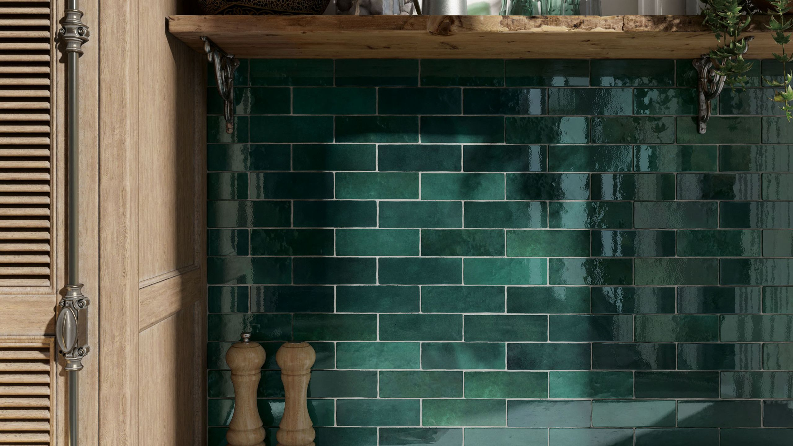 Cloe 2 5 X 8 Wall Tile In Green With