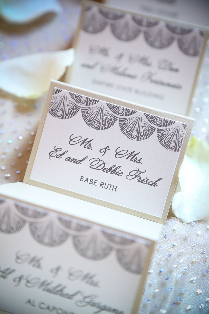 Vintage Gray and White Escort Cards | CLB Photography https://www ...