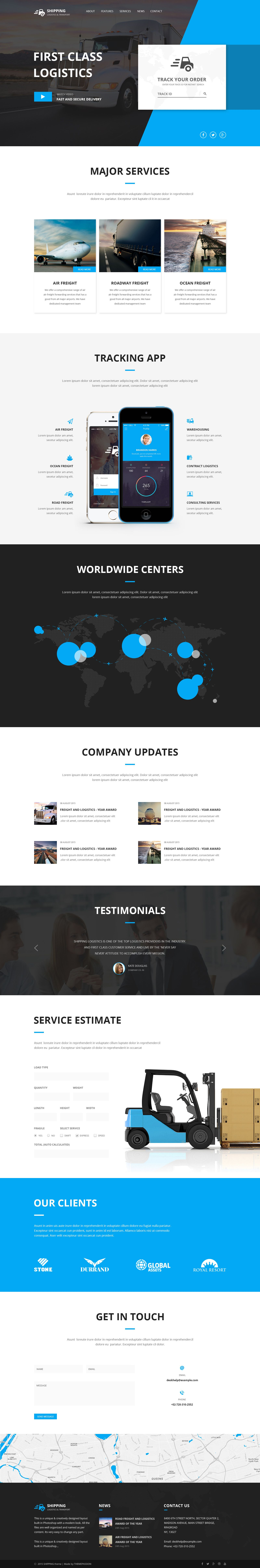 Shipping Logistics Transport Html Template Shipping Transport