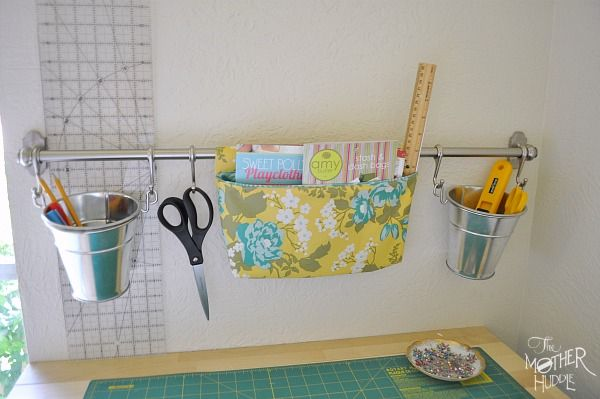 Delightful Tutorial :: Hanging Fabric Pocket For The Ikea Fintorp Rail (perfect Wall  Storage!