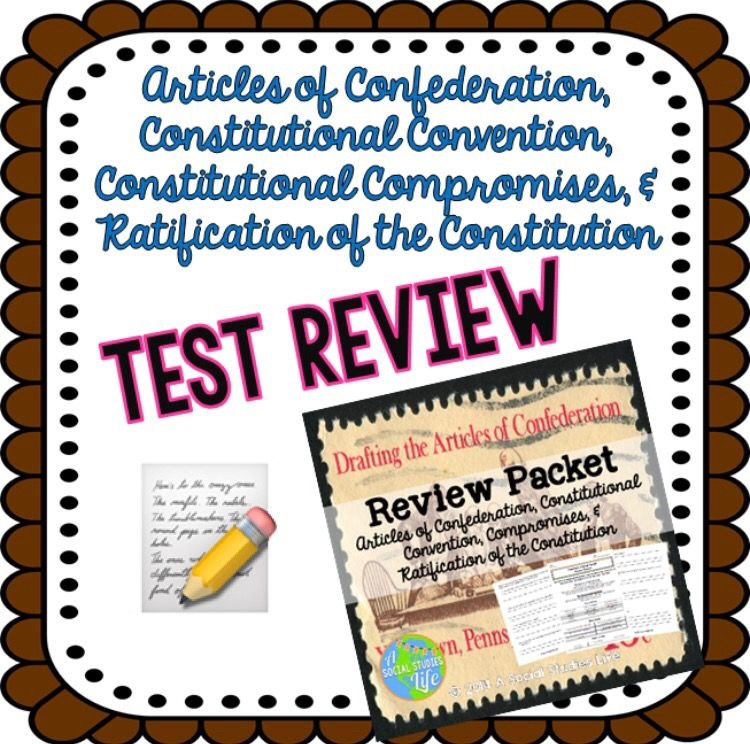 Articles Of Confederation Review Packet  Formal Assessment