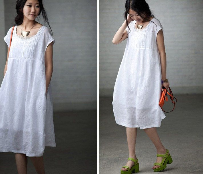 White Short Maxi Dress