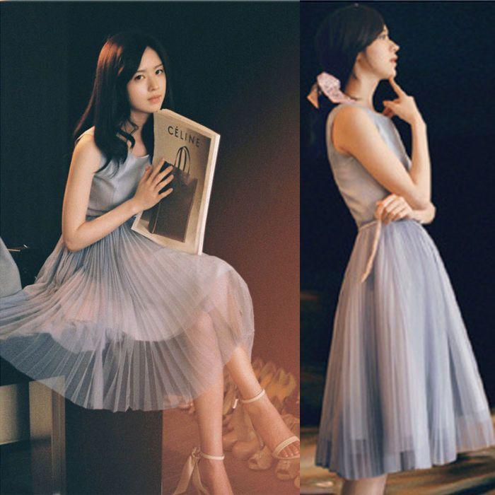 New Women Korean Style Sleeveless Chiffon Maxi Long dress Pleated Party Sundress #Unbranded #Sundress #SummerBeach
