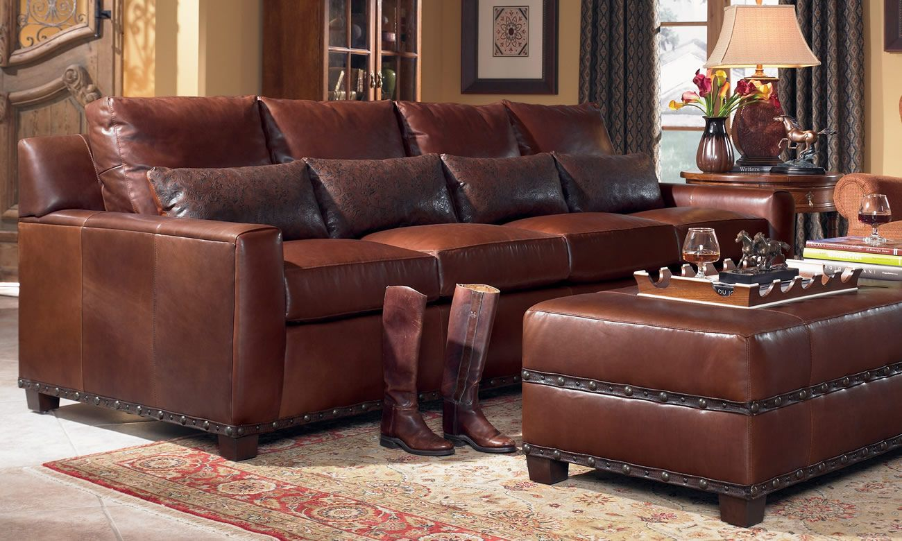 Stickley Furniture Leather Sofas Shabby Chic Cheap Monterey Sofa And Ottoman
