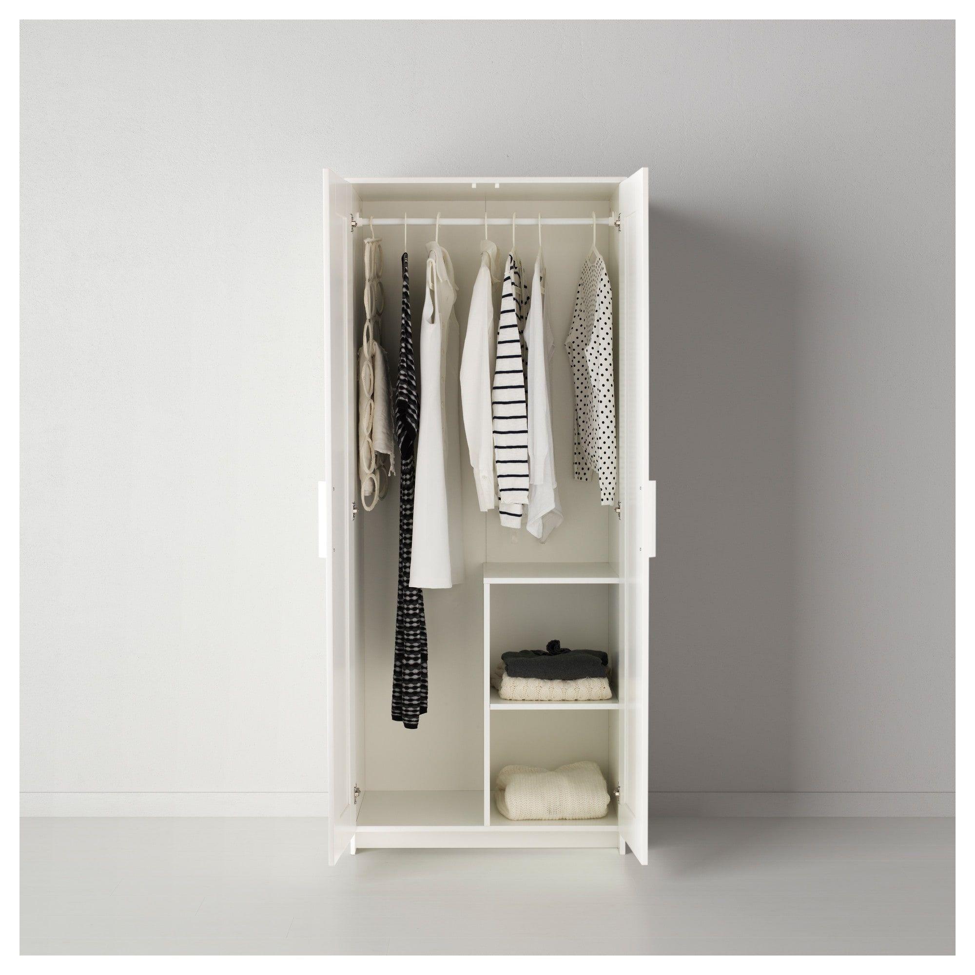 Brimnes Wardrobe With 2 Doors White 30 3 4x74 3 4 Brimnes