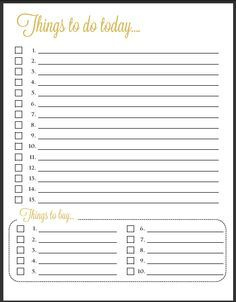 Free Things To Do Today  Printable  Fagyasztott Joghurt