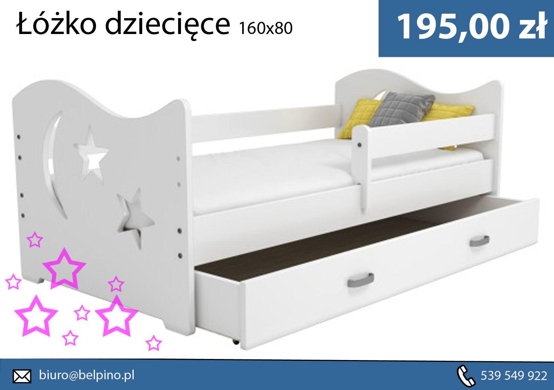 Piękne Białe łóżko Dziecięce Z Gwiazdkami Wyciętymi W Tylnej