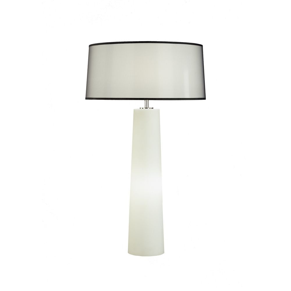 Robert Abbey Inc Contemporary Table Lamp With Night Light Base And Shade 1578b